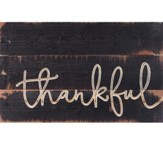 Thankful, Carved Calligraphy Decor