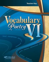 Abeka Vocabulary & Poetry VI Teacher's Key