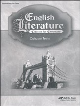 Abeka English Literature Tests and  Quizzes