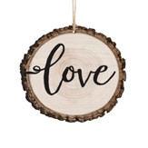 Love, Bark Ornament