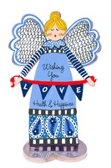 Wishing You Health and Happiness, Angel Figurine
