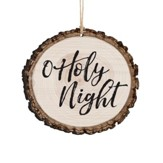 O Holy Night, Bark Ornament