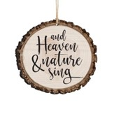 And Heaven & Nature Sing, Bark Ornament