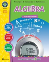 Algebra - Drill Sheets Gr. 6-8 - PDF  Download [Download]