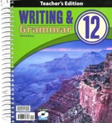 BJU Press Writing & Grammar  Teacher's Edition, Grade 12, 3rd Edition
