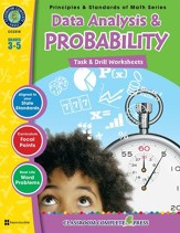 Data Analysis & Probability - Task & Drill Sheets Gr. 3-5 - PDF Download [Download]