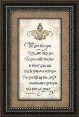 the lord bless you and keep you framed art
