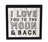 I Love You To the Moon and Back, Framed Decor