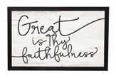 Great Is Thy Faithfulness, Framed Decor