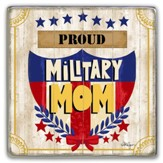 Proud Military Mom Visor Clip