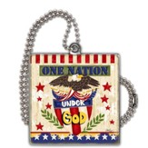 One Nation Under God Car Charm