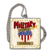 Military Family Strong Car Charm