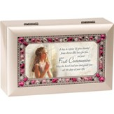 First Communion Jeweled Music Box, Girl
