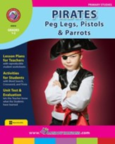 Pirates: Peg Legs, Pistols & Parrots  Gr. 1-2 - PDF Download [Download]