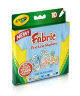 Crayola, Fine Line Fabric Markers, 10 Pieces