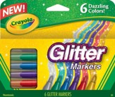 Crayola Glitter Markers, 6 Pack