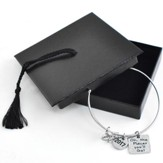 2017 Graduation Adjustable Wire Bangle In Graduation Cap Box