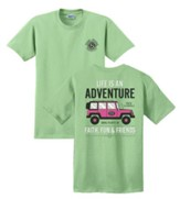 Life Is An Adventure Shirt, Green, Small
