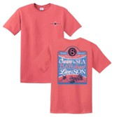 Swim In the Sea Shirt, Coral, Large