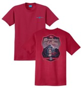 The Mountains Are Calling Shirt, Red, Small