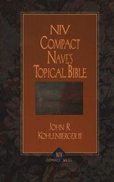 NIV Compact Nave's Topical Bible, Paperback