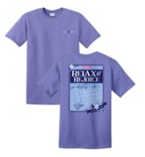 Relax and Rejoice Shirt, Purple, Large