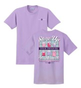 Store Up Your Treasure In Heaven Shirt, Purple, Large