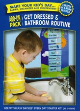 Easy Daysies Magnetic Schedules for Kids: Get Dressed and Bathroom Routine Add-On Pack