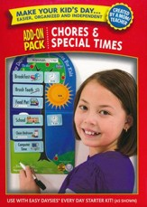 Easy Daysies Magnetic Schedules for Kids: Chores and  Special Times Add-On Pack
