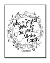 Make A Joyful Noise, Coloring Wall Art, Large
