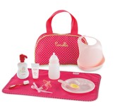 Baby Doll Accessories Set with Carry All Bag, Large, 10 pieces, Cherry
