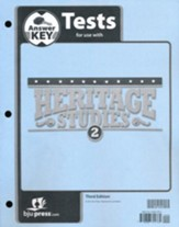BJU Press Heritage Studies 2 Tests Answer Key, 3rd Edition