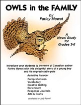OWLS IN THE FAMILY NOVEL STUDY Gr. 3-6 - PDF Download [Download]
