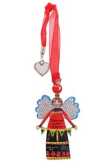 Teachers Touch Our Heart and Open Our Mind, Angel Ornament