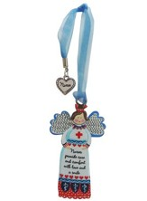 Nurses Provide Care and Comfort With Love and A Smile, Angel Ornament