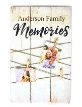 Personalized, Pallet Clothesline Clipboard, Memories, White