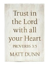 Personalized, Wooden Barnhouse Block, Trust in the Lord Small, White