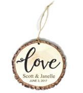 Personalized, Barky Ornament, Love, Name and Date