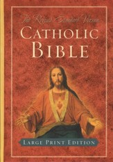 Revised Standard Version Catholic Bible, Large Print Edition, Hardcover - Slightly Imperfect