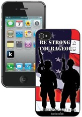 Be Strong and Courageous Soldiers iPhone 4 Case