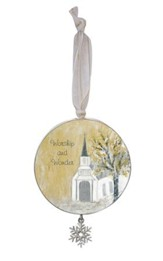 Wonder and Worship Ornament with Snowflake Ornament