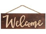 Welcome, Carved Hanging Sign