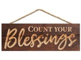 Count Your Blessings, Carved Hanging Sign