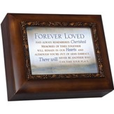 Wood Grain Urn, Forever Loved And Always Remembered