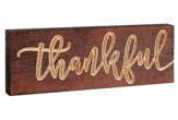 Thankful, Block Plaque