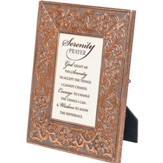 Copper Metal Frame, Serenity Prayer, 4 x 6