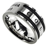 Courage Cable Men's Ring, Size 8 (Joshua 1:9)