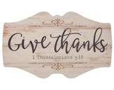 Give Thanks, Wood Sign