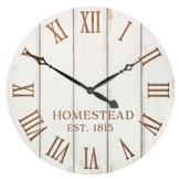 Oversized Clock; Homestead Est 1815