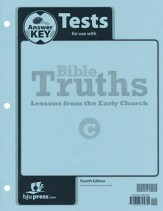 Bible Truths Level C Tests Answer  Key (4th Edition)